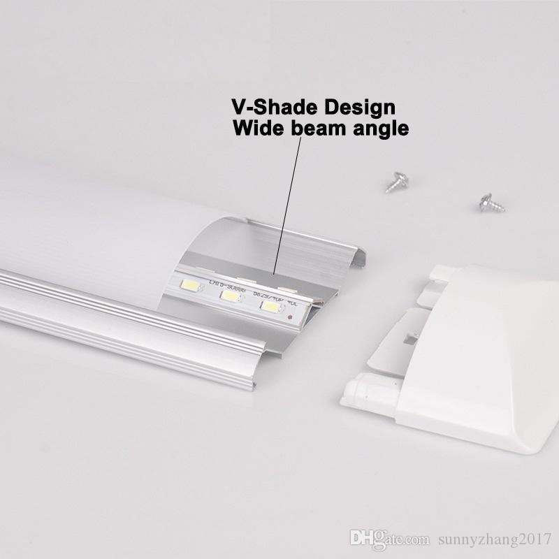 LED 형광 튜브 2피트 주도 튜브 조명 램프 18W 600mm 60cm 정제 조명기 램프 세척 조명 빛 AC85-265V 110V 220V 고휘도