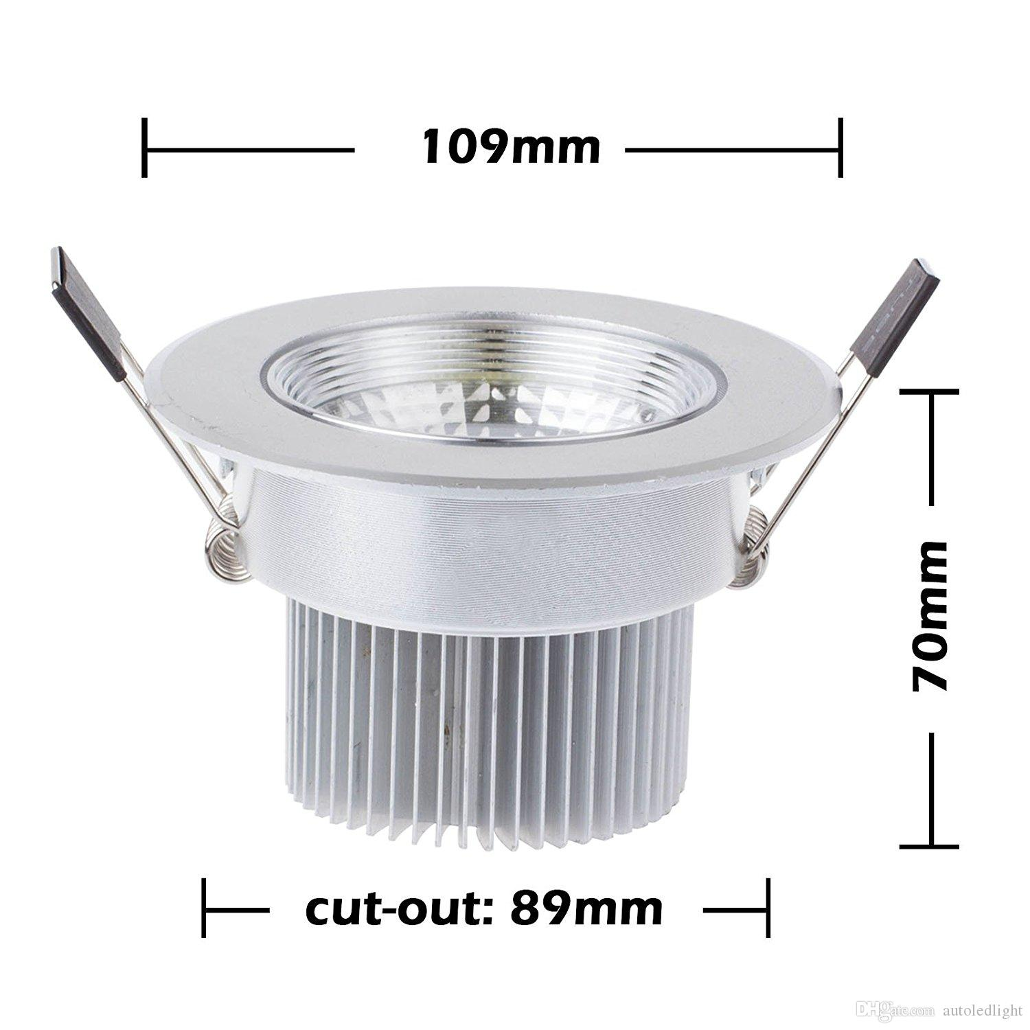 dimmable 7 Watts COB LED Ceiling Light Downlight Warm/Cool White Spotlight Lamp Recessed Lighting Fixture , Halogen Bulb Replacement