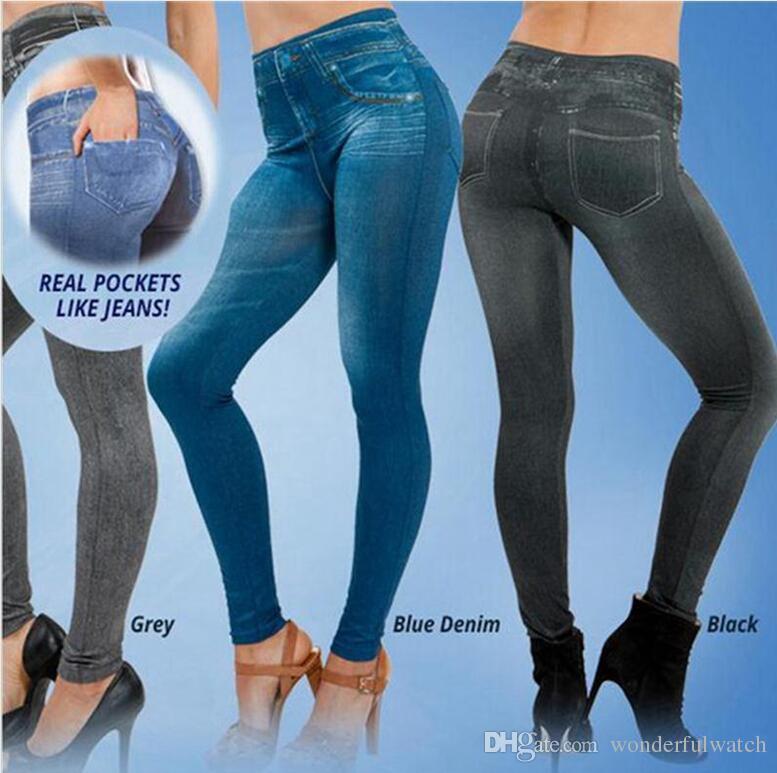 2019 Women Winter Legging Add Wool Leggings Jeans Black