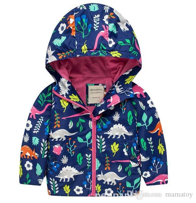 Nouveau garçons Automne Dinosaur hiver manteau à capuchon vêtements de vêtements Pull Cartoon enfants Outfit bébé Enfants 2-7 ans Sweat Veste