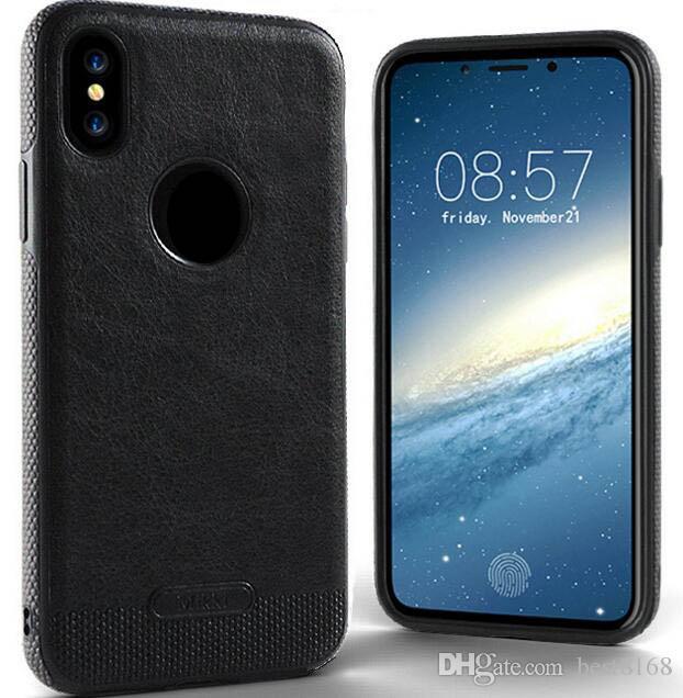 Luxus mikki leder rüstung hybrid business weiche tpu case für iphone x 7 plus 6 6 s se 5 5 s galaxy s9 hinweis 8 s8 s7 stoßfest silikon abdeckung