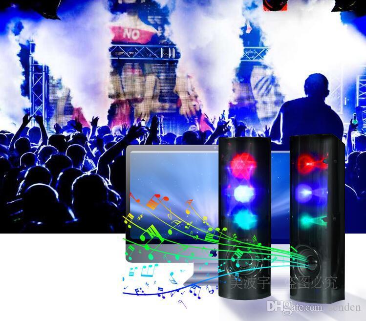 مدهش نجوم 3D الموسيقى مضيئ مضخم صوت ستيريو الصمام اللمعان ضوء USB 2.0 الوسائط المتعددة مضخم صوت Aux-in للكمبيوتر / الهاتف المحمول / كمبيوتر محمول