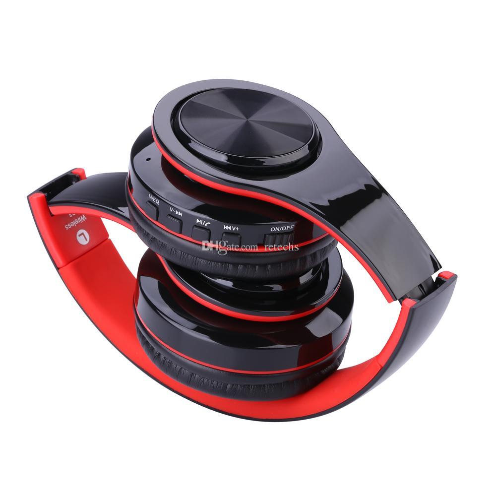 WH812 Kablosuz Kulaklık Portatif Katlanır Bluetooth V4.0 + EDR Kulaklık MP3 Çalar micphone destek Mini SD TF Kart ile kablosuz kulaklık