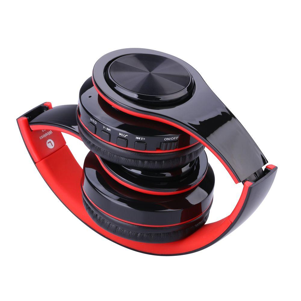 WH812 سماعات لاسلكية محمولة قابلة للطي بلوتوث V4.0 + EDR سماعات سماعات رأس لاسلكية مع دعم مشغل MP3 المسجل Micphone البسيطة بطاقة TF SD