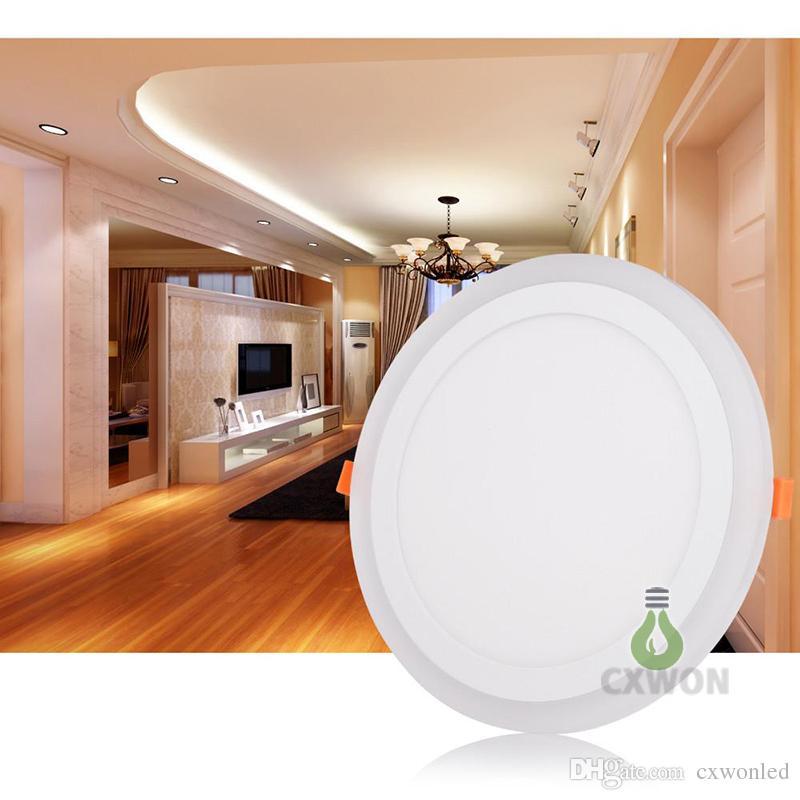 Control Remoto Blanco RGB llevó el panel ligero 6W / 9W / 18W / 24W de techo Ultra Thin empotrada LED downlight acrílico Panel lámpara