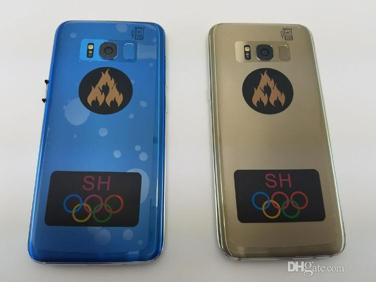 Разблокированный мобильный телефон Goophone S9 + plus с ОС Android MTK6580 Quad Core 1 + 8g показывает Octa ядро 4G RAM 128G ROM показан 4G LTE 2560x1440 3G смартфон