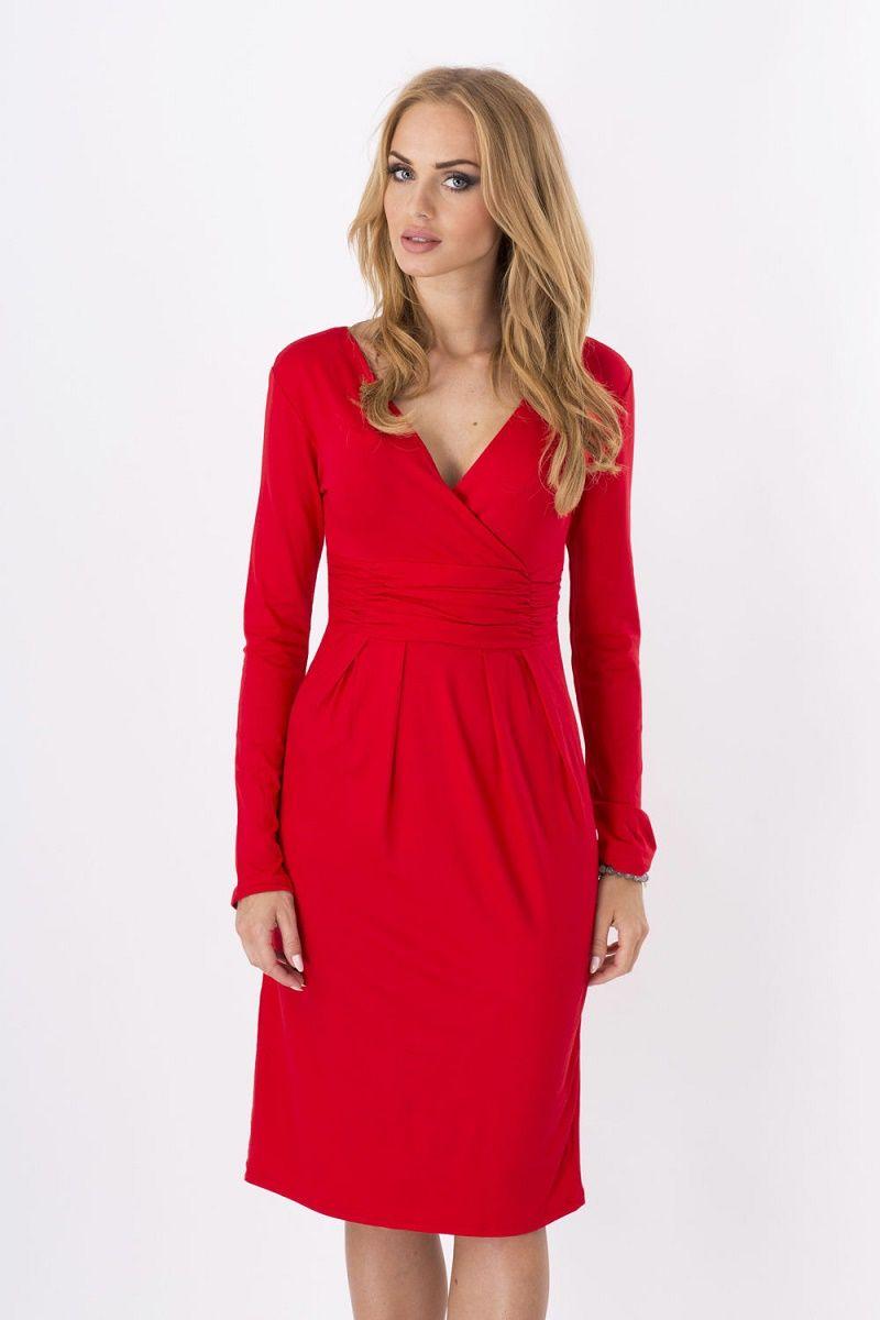 Les femmes robe Vogue nouveau fonds de l'automne 2017 équipez produits de haute qualité pure robe ondulée v cou couleur des vêtements en gros S-5XL NYC142