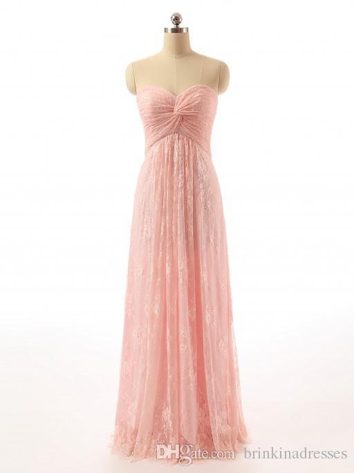 2019 images réelles nouveau sur l'épaule chérie une ligne dentelle plis rose robes de soirée formelles sur mesure