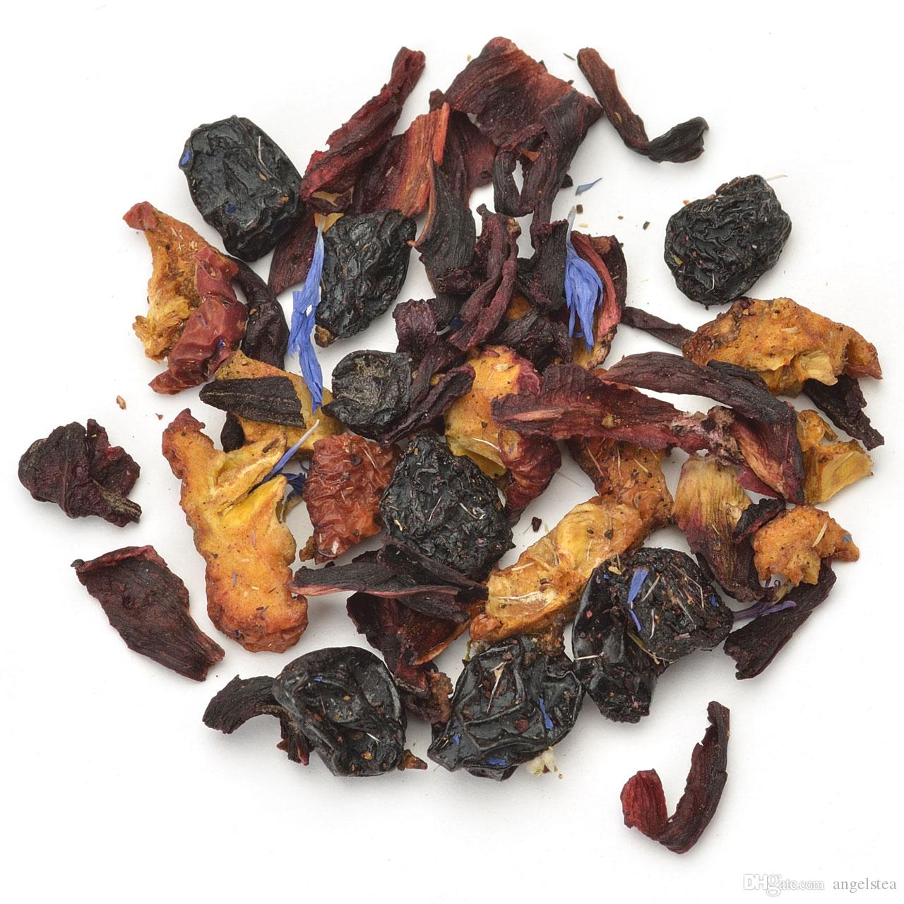 Wholesale 100g Cornflower Blue Fruit Tea with Roselle, Grapes, Black  Currants, Blueberry and Cornflower, Free Shipping