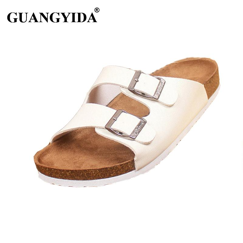 3435a2082 Wholesale Lovers Casual Sandals Fashion Cork Slippers Male Summer Man Woman  Beach Slippers Flip Slip Resistant Trend Of Sandals Female Heels Gladiator  ...