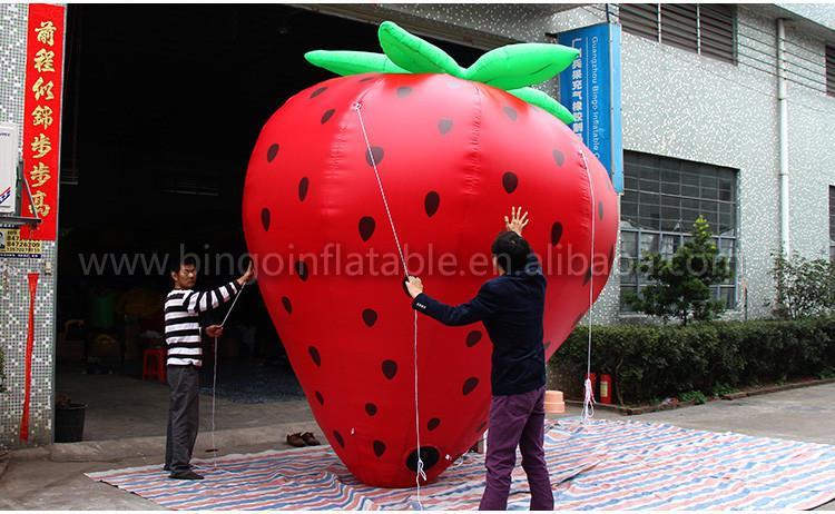 vendita calda pubblicità gonfiabile modello di frutta gigante fragola gonfiabile la promozione