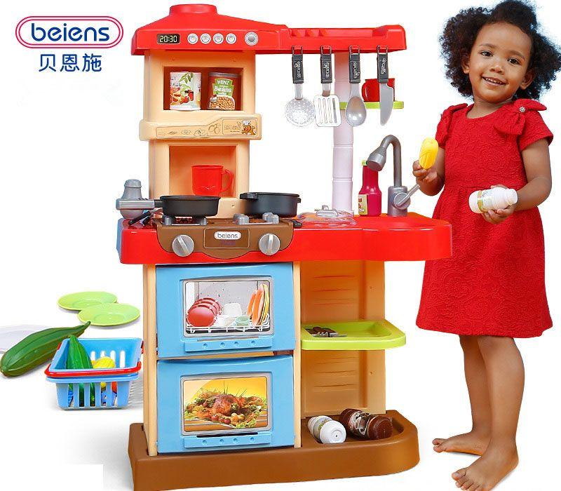 2019 Beiens Brand Toys Kids Kitchen Set Children Kitchen Toys Large