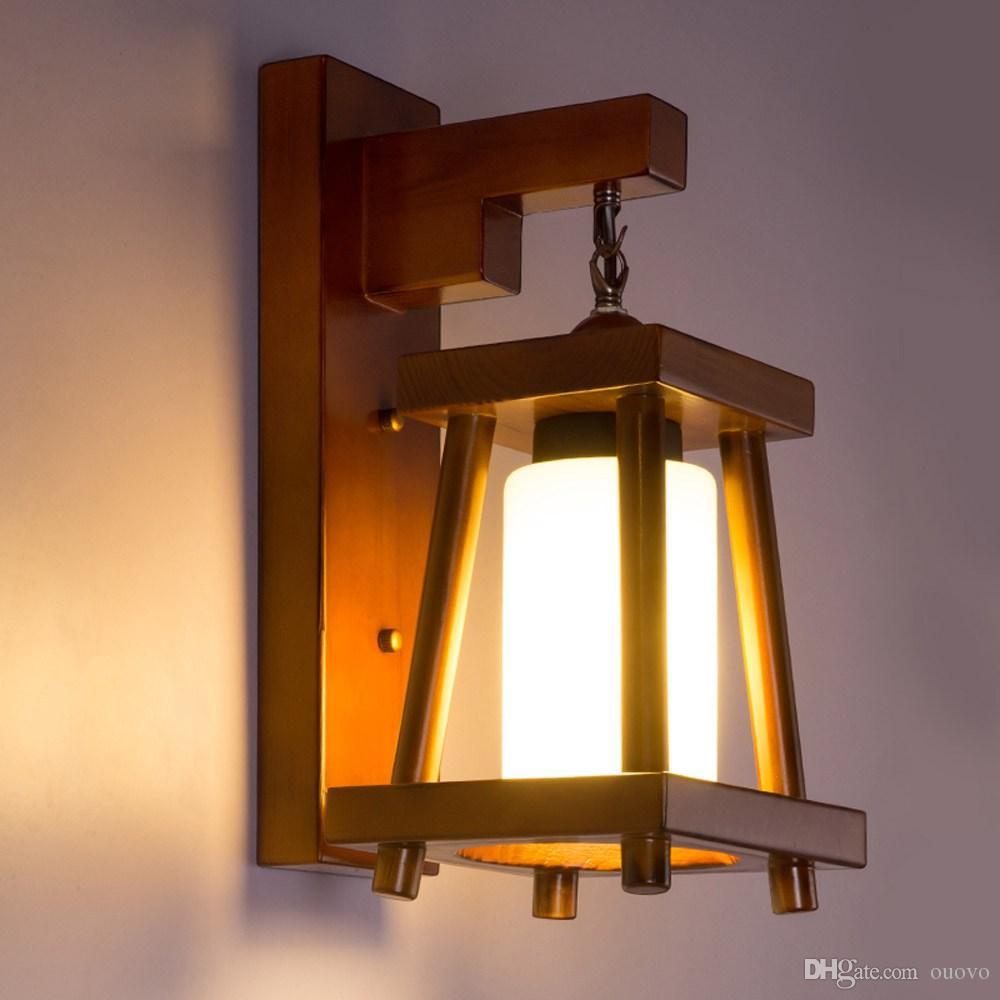 Grosshandel Gemaltes Holzernes Restaurant Wand Licht Esszimmer