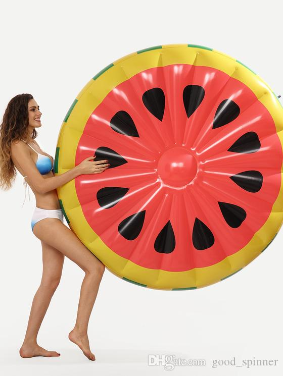 Pool Floats Watermelon Lemon Giant Fruit Slice Inflatable Toy Float Inflatable 60 Inch 1.4M Pool Water holder Holiday Water Fun Pool Toy