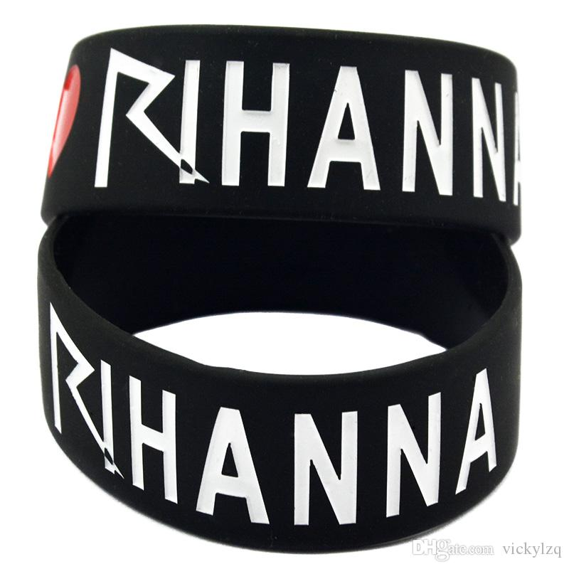 1 Inch Wide I Love Rihanna Silicone Wristband Perfect To Use In Any Benefits Gift For Concert
