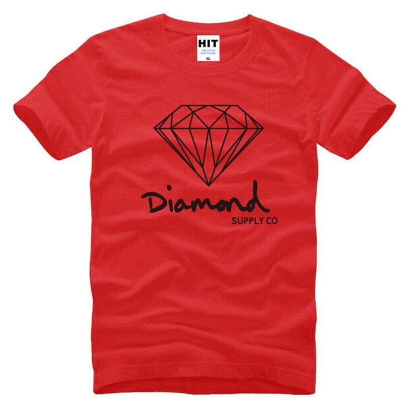 Nuevo Verano Algodón Para Hombre Camisetas de Moda de Manga Corta Impreso Diamond Supply Co Male Tops Tees Skate Brand Hip Hop Ropa Deportiva