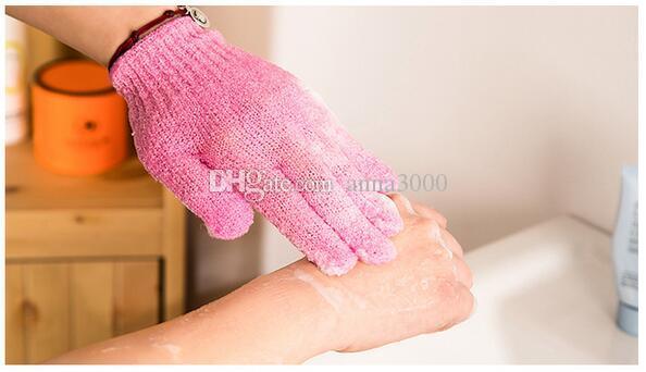 Prezzo di fabbrica Esfoliante Guanto Pelle Corpo Bagno Doccia Loofah Spugna Mitt Scrub Massage Spa