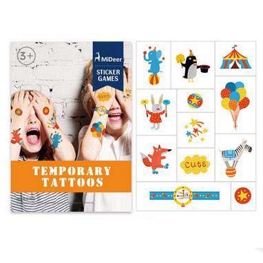 2019 Mideer Kid\'S Comics Temporary Tattoos Children\'S Cute ...