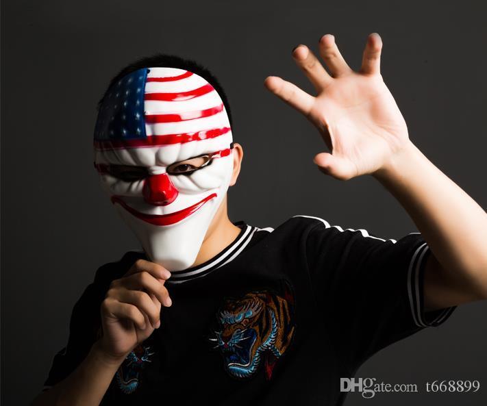 Terroriste V masque de clown a vu des crânes de fantôme Sparta pour la vendetta Halloween danse adultes masculins de nombreuses sortes de masques