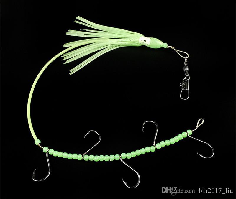 33 см 7 г световой осьминог строка крюк рыболовные крючки рыболовные крючки мягкие приманки приманки c-034