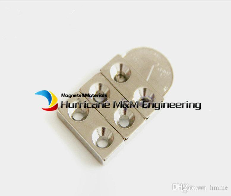 NdFeB Fix Magnet 28x12x4mm with M5 Screw Countersunk Hole Block N42 Neodymium Rare Earth Permanent Magnet