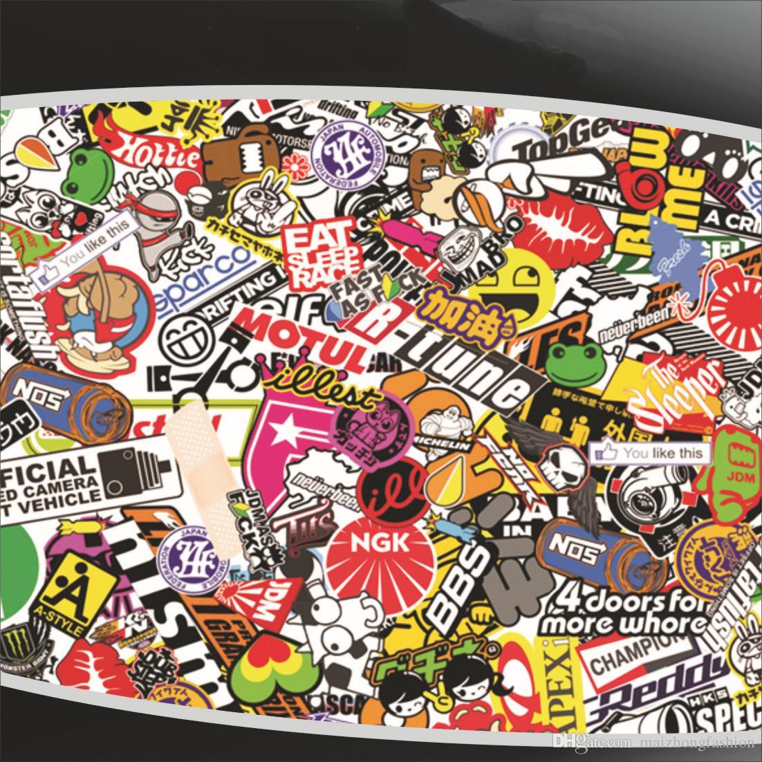 2018 Automobile Graffiti Front Cover Print Car Sticker Character Body Stick A Sticker Label 2017 Hot Sticker Bomb Wholesale