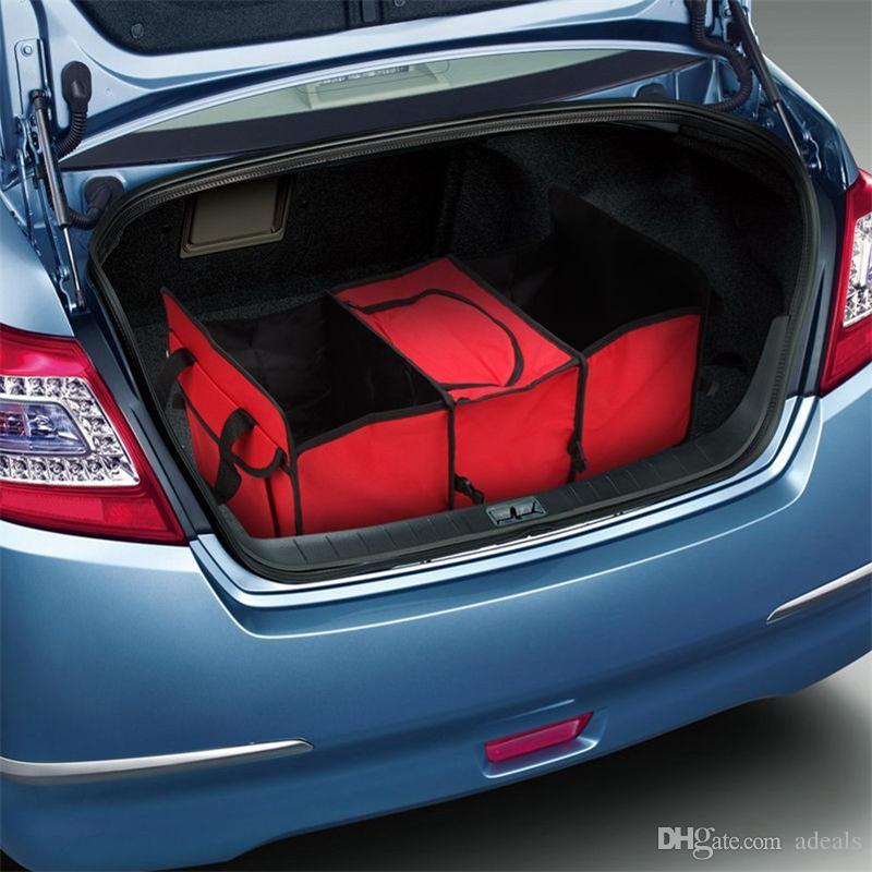 Auto Care Car tronco de armazenamento saco Oxford Pano dobrável caixa de armazenamento do caminhão Car Trunk Tidy Bag Organizador Caixa De Armazenamento com saco mais frio