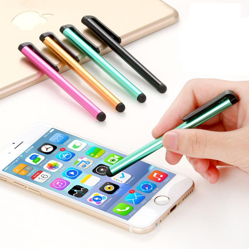 lowest price 7f302 e2e49 Wholesale- 10 Pcs/lot Capacitive Touch Screen Stylus Pen for iPhone 5 4s  iPad 3/2 iPod Touch Suit for Universal Smart Phone Tablet PC Pen