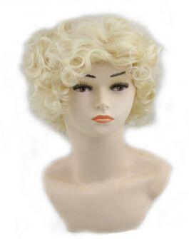 Xiu Zhi Mei Halloween vacances habillé perruque princesse blanche-neige Full Curly Wave noir cheveux courts perruques Cosplay cheveux Anime perruques