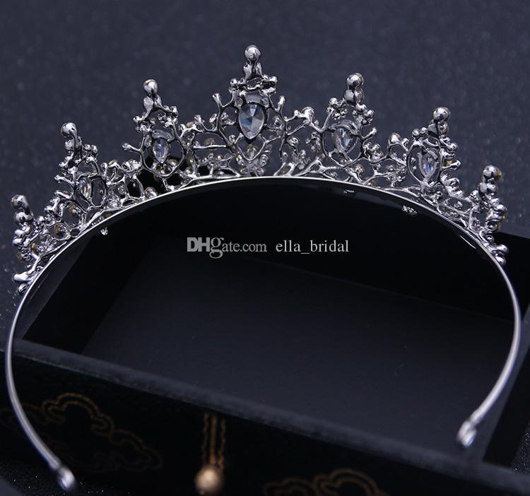 Designer Fashion Crystal Rhinestone Crown Wedding Party Prom Homecoming Crowns Band Princess Bridal Tiaras Hair Accessories