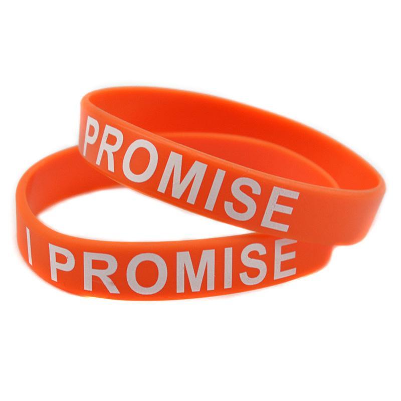 Ik beloof siliconen polsband bedrukt logo perfect om te gebruiken in elke voordelen cadeau voor sport volwassen grootte