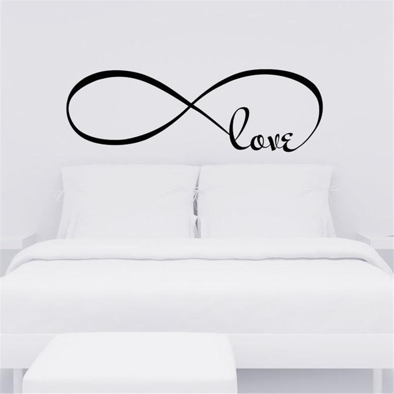 22*60cm Love Wall Stickers Home Decor Bedroom Decor Infinity Symbol Word  Vinyl Art Couple Room Decals Wallpaper Decoration Wall Peels Wall Phrases  Stickers ...