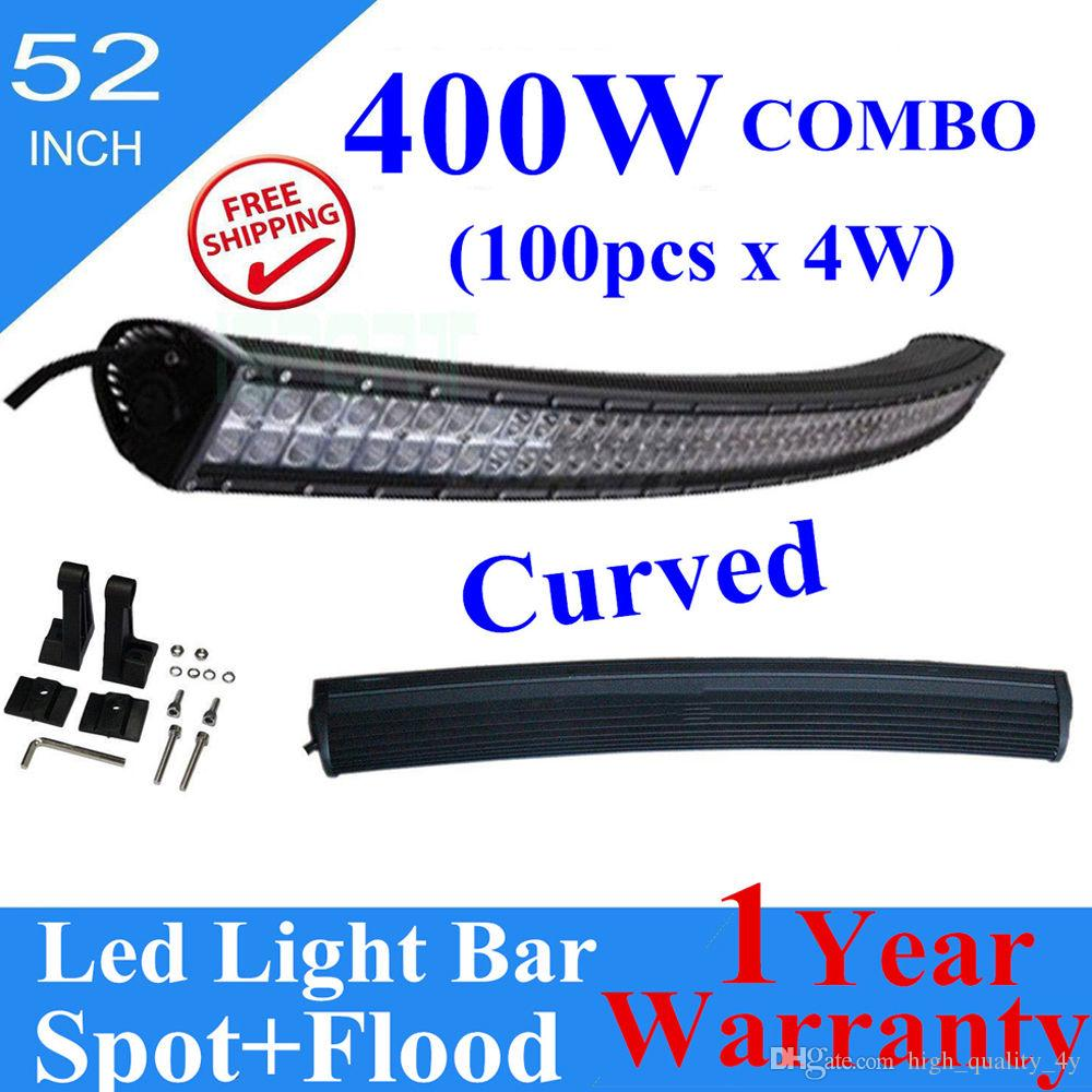 52 Inch Curved 400w Car Led Bar Driving Work Light Bar Combo Beam ...
