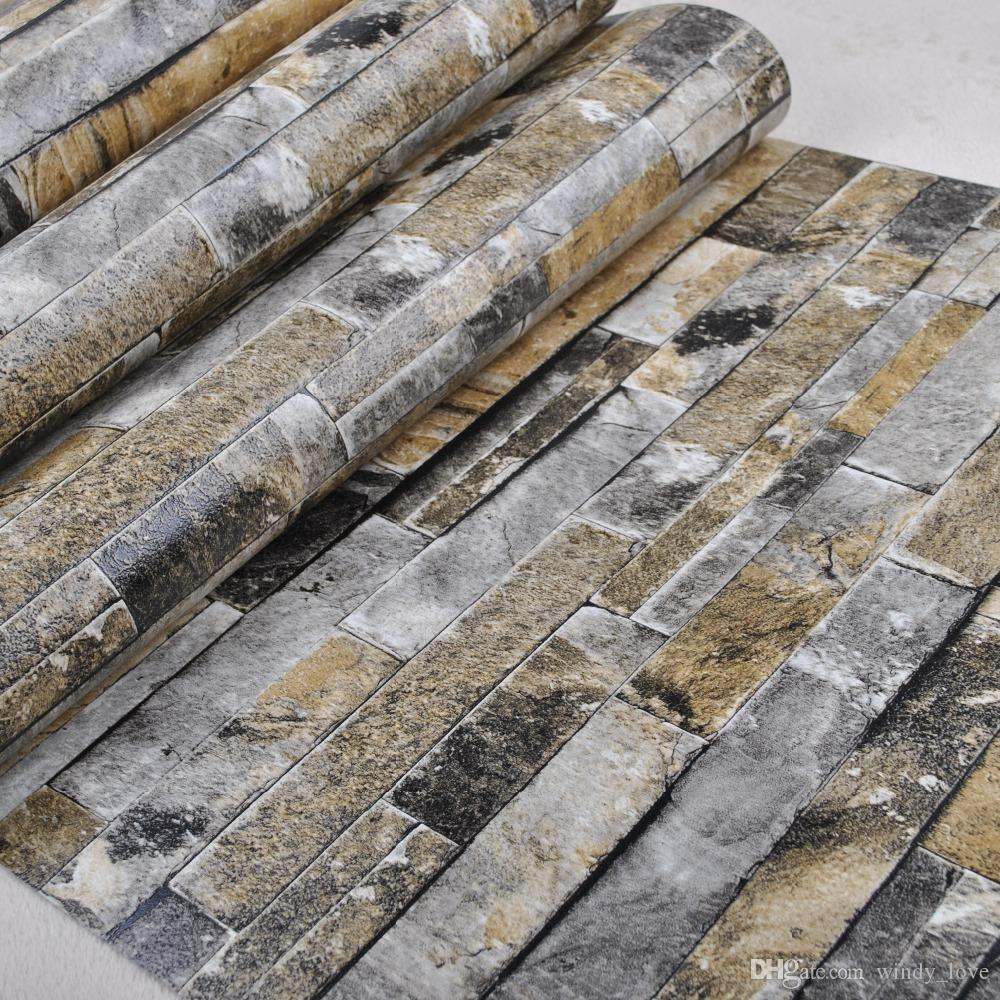 3D Wall Paper Brick Thicken PVC Stone Wallpapers PVC Vinyl Wallpaper ...