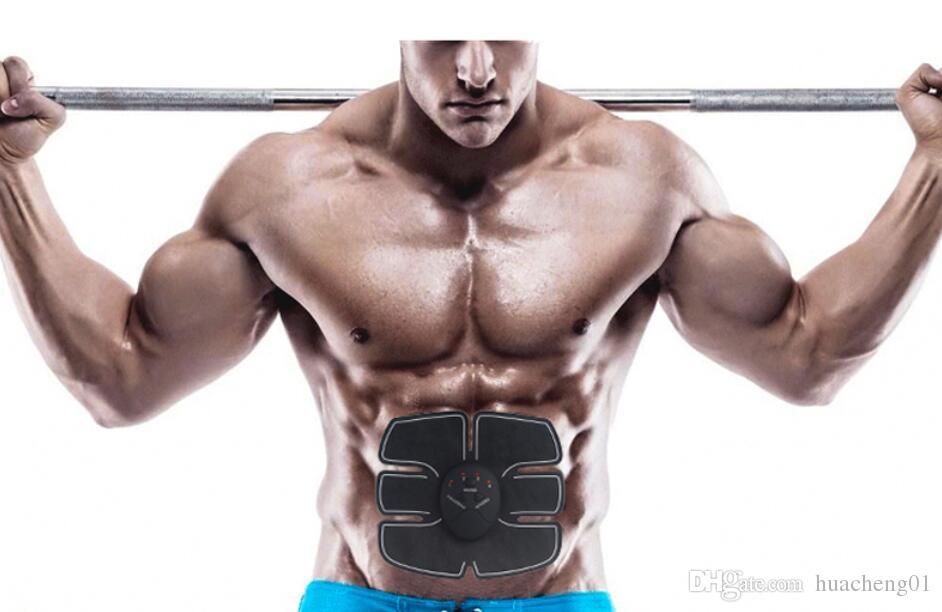 EMS Kas Karın Egzersiz Cihazı Akıllı ABS Fit Eğitim Toner Zayıflama Vücut Şekli Spor Masajı DHL tarafından