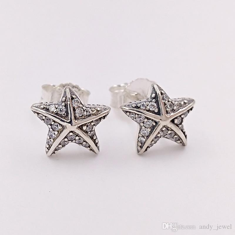 f4b79f6be 2019 Authentic 925 Sterling Silver Studs Tropical Starfish Stud Earrings  Fits European Pandora Style Studs Jewelry 290748CZ From Andy_jewel, $8.02 |  DHgate.