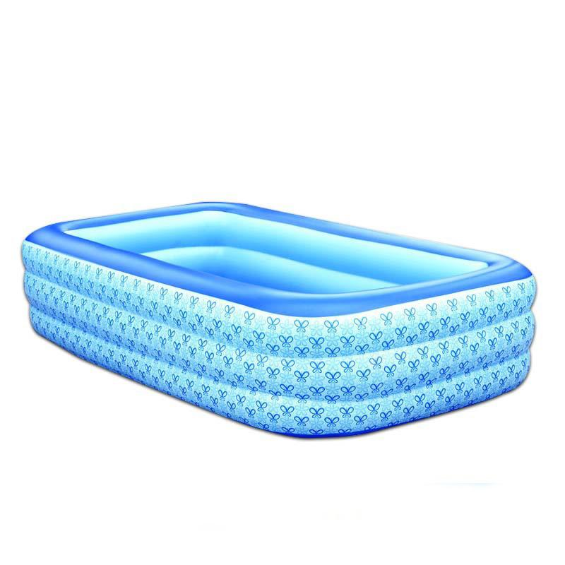 wholesale new 3 6 years old children piscine family rectangle pvc inflatable pools piscina baby inflatable swimming pool size 25516560cm inflatable - Rectangle Inflatable Pool