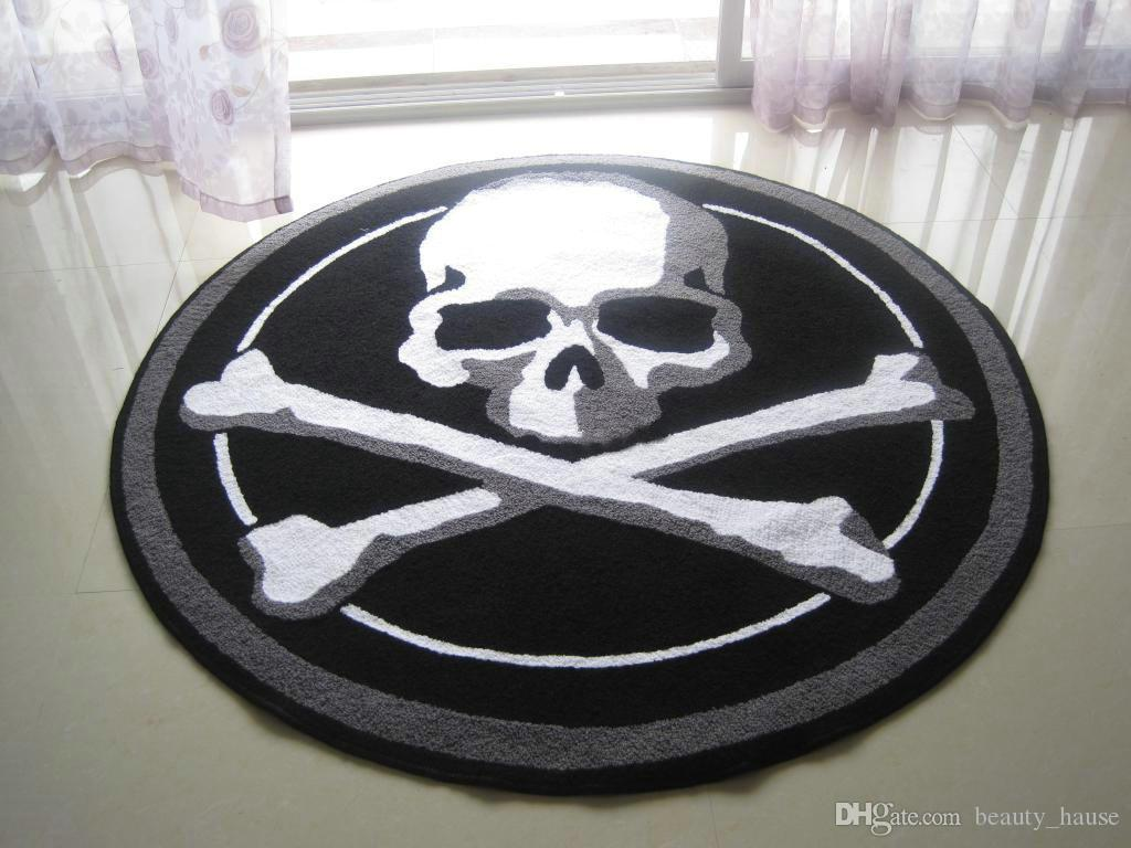 hand hooked halloween scary skull mat living door mats carpet