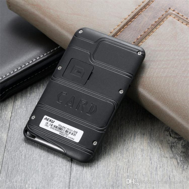 100% Original Mini Card Phone AEKU MScreen Micro SIM Quad Band Low Radiation Kids Pocket Mobile Phone with SOS Alarm Function