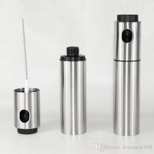 Silber Edelstahl Öl Sprayer Olive Pumpe Sprühen Öl Flasche Sprayer Dose Jar Pot Tool Dose Topf Öl Sprayer Küche Werkzeuge