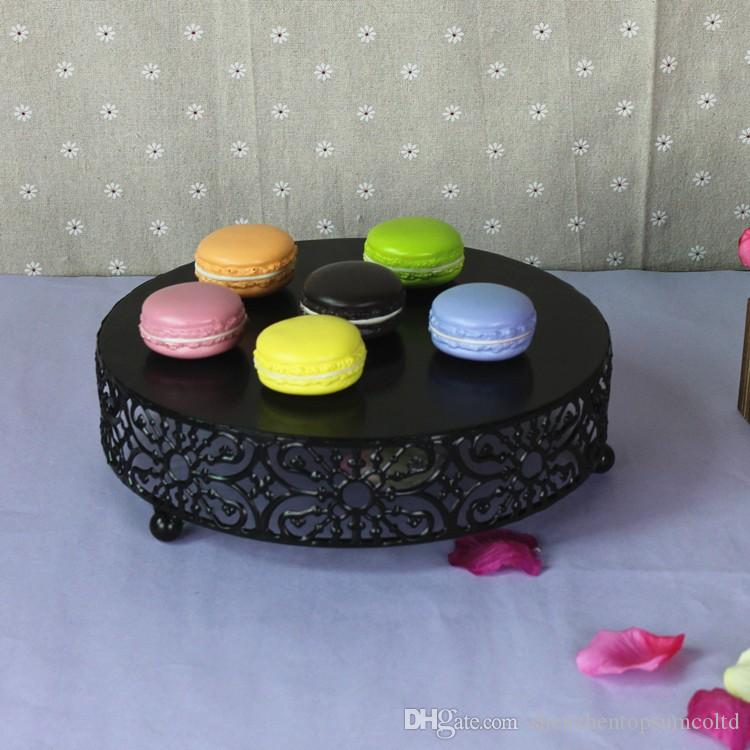 Soporte de pastel de metal Pie de pan Macaron Soporte de plato de fruta bandeja Plato de pastel de huevo tarta para la decoración de la boda