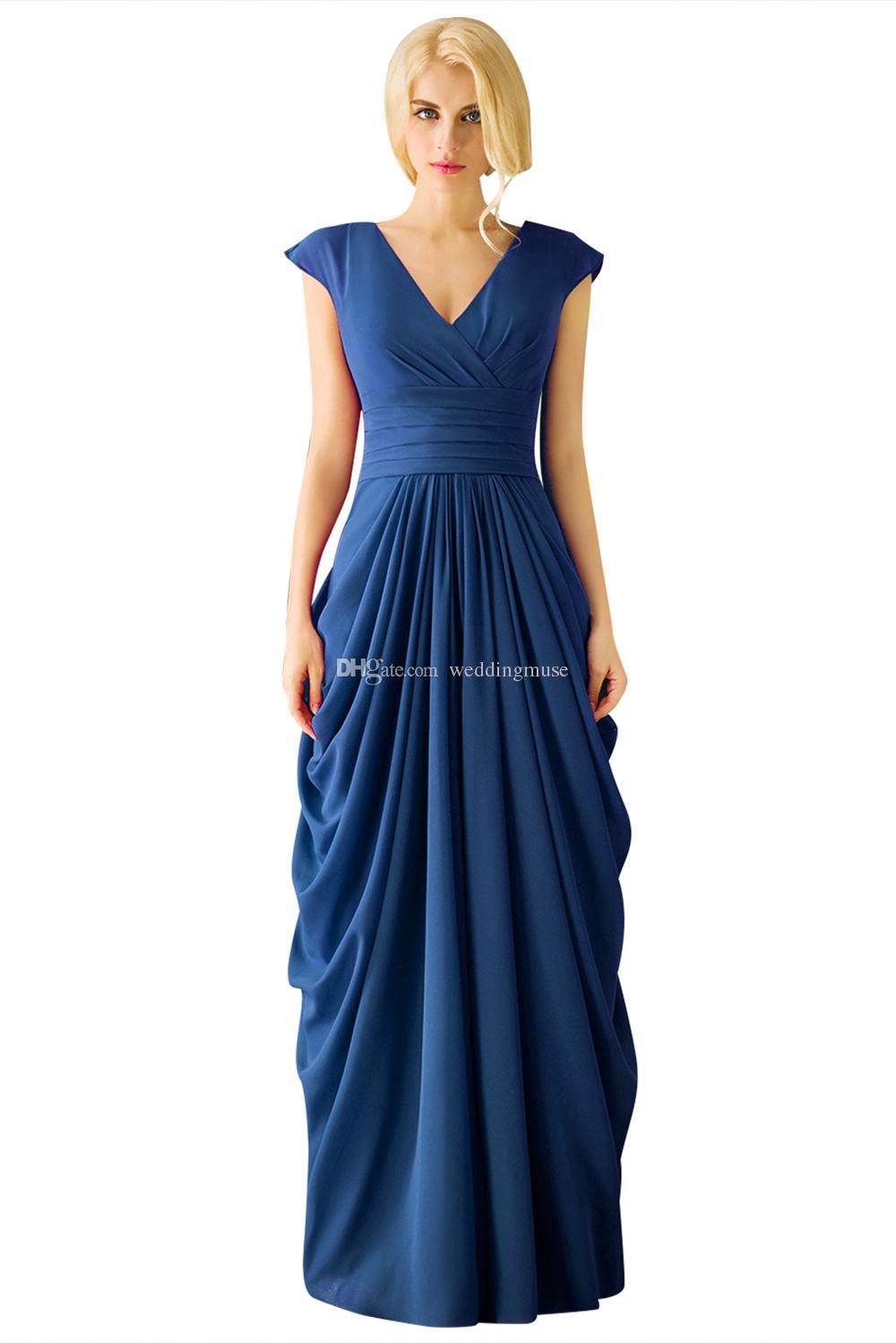 플러스 사이즈 신부 드레스의 어머니 공식적인 긴 가운 보라색 시폰 선 바닥 길이 Pleats 2021 파티 드레스 여성 EV134