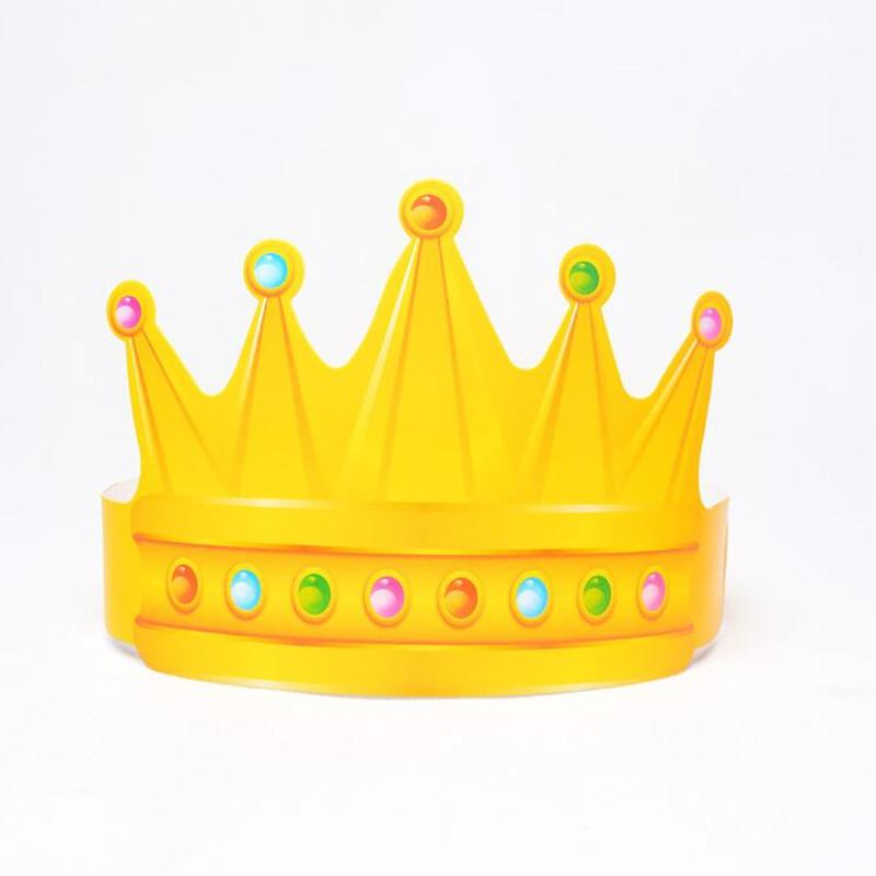 Wholesale Creative Children Birthday Crown Hat Cute Paper Caps Adults Head Wear Party Decorations First Girl Hats From