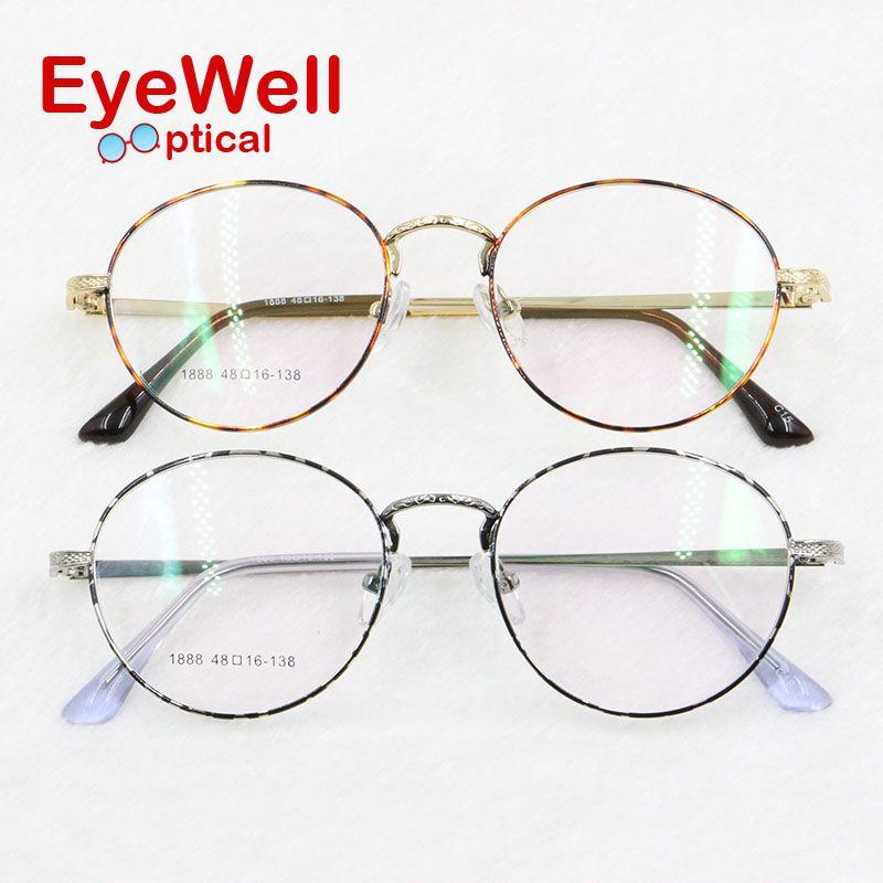 fc38e1078a Wholesale 2017 Fashion Alloy Round Optical Frame For Lady Prescription  Eyewear Hot Sale High Quality Women Eyeglasses 1888 UK 2019 From Tonic