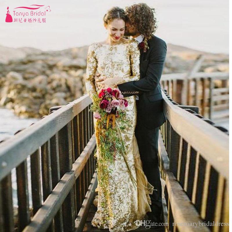 Gold Sequin Wedding Dress