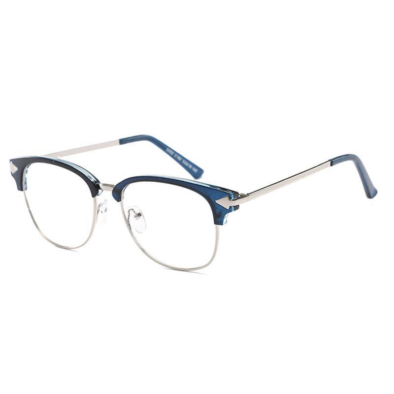 D.King Retro Metal Temple Eyeglasses Frames Vintage Clean Lens ...