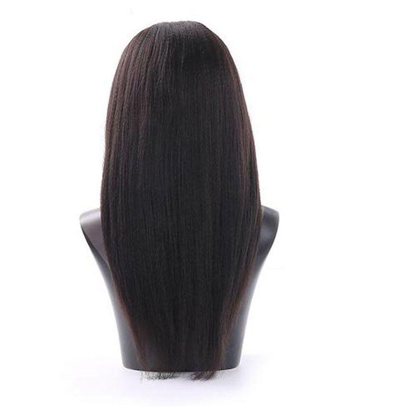 Кудрявый прямой U часть парики человеческих волос для черных женщин U часть парики Малайзии девственные волосы Яки естественный цвет 8-24 дюйма