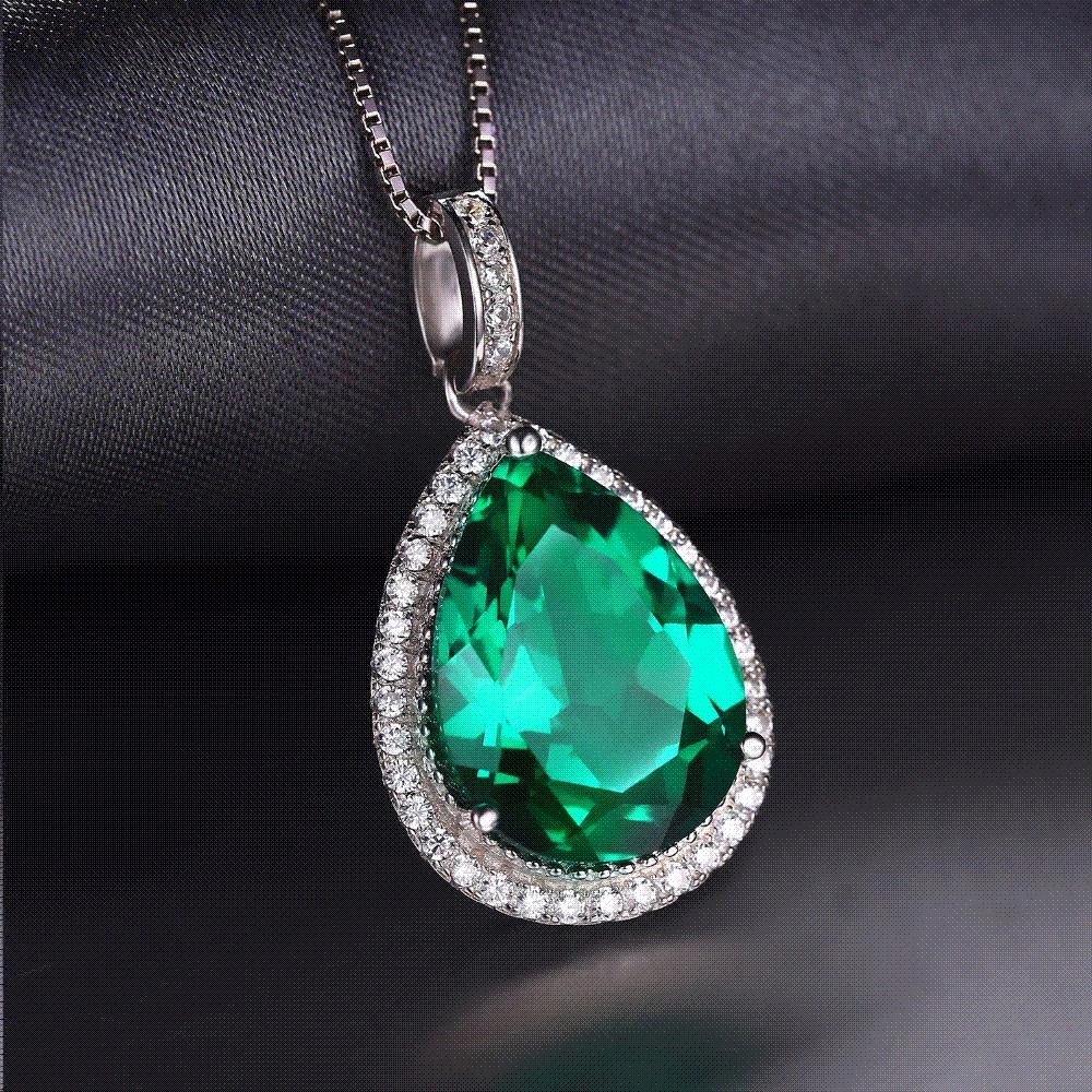 diamond shape cluster solitaire necklace carat pendant women for product shaped pear