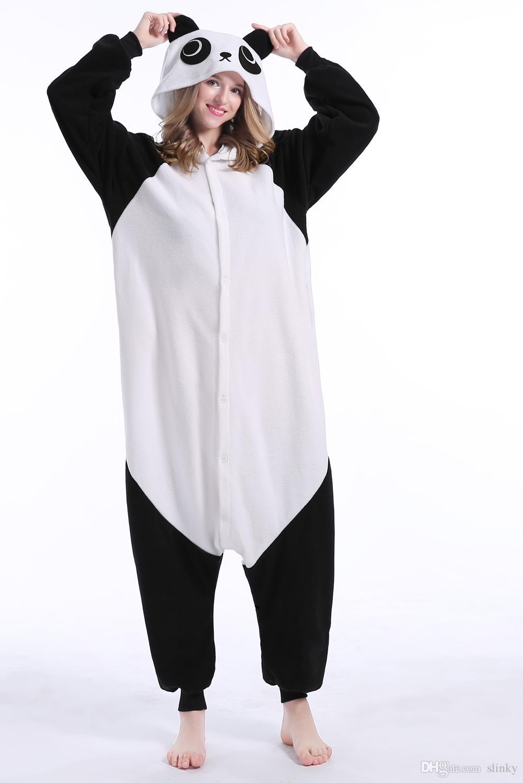 Panda Stock Warm Unicorn Kigurumi Pigiama Abiti di animali Cosplay Costume di Halloween Abbigliamento adulti Tute di cartone animato Unisex Animali da notte