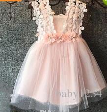 Compre Niñas Princesa Vestido De Verano Niños De Encaje Crochet Tul Tutú Vestido Con Cuentas De Flores Niños Chaleco Vestido De Fiesta A 6433 Del